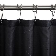 Polyester Diamante Shower Curtain - Black