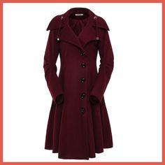 ForeMode Turn-down Collar Single Breasted Slim Coats Women Winter Overcoat 2016 Women Irregular Hem Female S- XXL