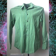 Express men's modern fit button up Green and blue. 97% Cotton 3% Spandex. NO TRADES  ALL REASONABLE OFFERS ARE ACCEPTED  NO LOWBALLERS!!! ✌️✌ LET'S BUNDLE!!!!  Express Tops Button Down Shirts