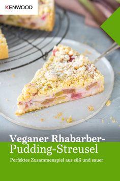 Vegan Sweets, Vegan Desserts, Vegan Foods, Vegan Recipes, Rhubarb And Custard, Cooking Chef, Le Diner, Healthy Cake, Easy Cake Recipes
