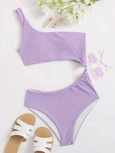 Swag Outfits, Girl Outfits, Cute Outfits, Fashion News, Kids Fashion, Cute One Piece Swimsuits, One Shoulder Swimsuit, Cute Bathing Suits, Casual Cosplay