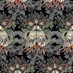k_landia -  I enjoyed so much working on this design, I just couldn't let go, but here it is. Must Love Moth pattern design is finished and will be available shortly on @patternbank  #newonpatternbank #patterndesign #pattern #surfacedesign #art #boho #handdrawn #fashion #textiledesign #fabric #allover #apparel #design #print #mariakurlandsky #fashionblogger #surfacespatterns  #patternbankdesigner #instafashion #swimwear #exposeme #manswear #stationary  #fashiontrend #textileprint...