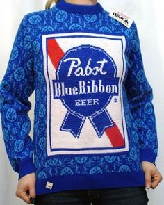 pabst-blue-ribbon-beer-sweater