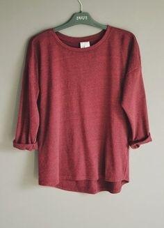 Kup mój przedmiot na #vintedpl http://www.vinted.pl/damska-odziez/bluzy/15226080-bordowa-bluza-z-rekawem-34