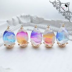 Kawaii Jewelry, Kawaii Accessories, Cute Jewelry, Mini Things, Cool Things To Buy, Resin Charms, Bottle Charms, Diy Crafts For Girls, Magical Jewelry