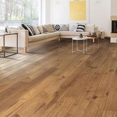 Living Room Hardwood Floors, Hardwood Floor Colors, Living Room Wood Floor, Light Hardwood Floors, Wood Floors In Kitchen, Kitchen Cabinets, Hickory Wood Floors, Engineered Hardwood Flooring, Plywood Floors