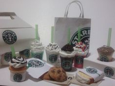 Starbucks inspired food and drink  for  an by SweetLoverShop