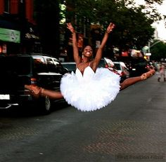 """""""Michaela Deprince, from Sierra Leone does not look like the """"typical"""" 17 year old ballet dancer. At she is shorter and more muscular than most ballet dancers. Black Dancers, Ballet Dancers, Ballerinas, Shall We Dance, Just Dance, Black Love, Black Is Beautiful, Black Art, Black Swan"""