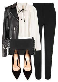 """""""Untitled #5877"""" by laurenmboot ❤ liked on Polyvore featuring Topshop, H&M and Gianvito Rossi"""