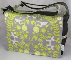 Chemical Free Diaper Bag - Made with Hemp in Canada. Love the design!