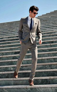 Light brown suit