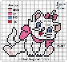 Resultado de imagem para graficos ponto cruz gatinha marie