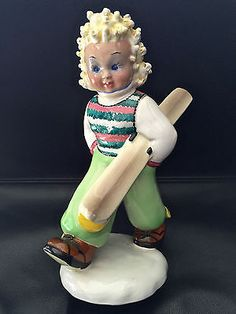 Art-Deco-Signed-TOSIN-Italy-Boy-Skier-Figurine
