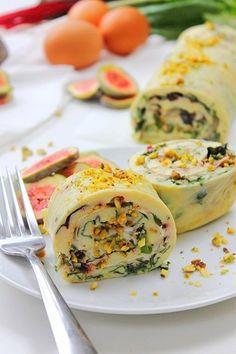 Baked Omelet Roulade