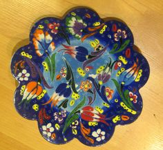 Hand made tile ceramic Pottery trivet for hot pots decoration or tea pots _ n 3