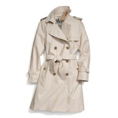 The Classic Long Trench from Coach-Every girl needs a trench in her wardrobe! I like this one from Coach!!