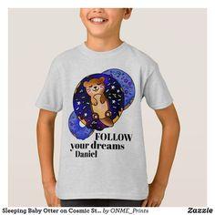 Sleeping Baby Otter on Cosmic Star Donut T-Shirt #Onmeprints #Zazzle #Zazzlemade #Zazzlestore #Zazzleshop #Zazzlestyle #Sleeping #Baby #Otter #Cosmic #Star #Donut #TShirt Star Donuts, Baby Otters, Children Clothing, Kawaii Cute, Kawaii Fashion, Baby Sleep, Cute Designs, Cute Kids, Fitness Models