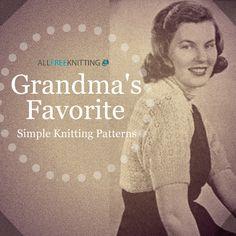 Grandma's Favorite Simple Knitting Patterns