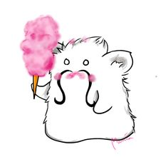 How to eat Cotton Candy - Pujo #art #drawing #mariadrawsdaily