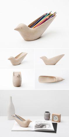 Tropical Bird Pencil Holder by BKID - carving Diy Clay, Clay Crafts, Wood Crafts, Arts And Crafts, Ceramic Pottery, Ceramic Art, Ceramic Decor, Diy Bird Feeder, Deco Originale