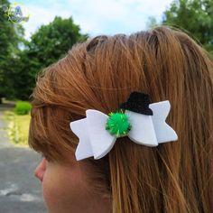 hair bows ribbon girl accessories head clip yellow black pair