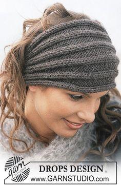 Как связать повязку на голову спицами для девочки