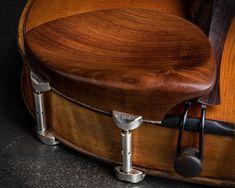 Teka Low Boxwood Viola Chinrest w/ Nickel Barrels - Potter Violins Barrel, England, Accessories, Violin, Music Instruments, Elegant, Barrel Roll, Barrels, British