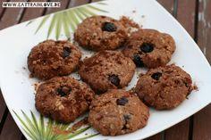 Vegane Blueberry-Chocolate-Cookies ohne Zucker