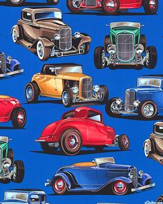 Deuces - The 1932 Ford - Quilt Fabrics from www.eQuilter.com