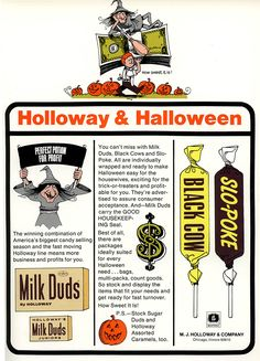 Holloway Halloween trade ad - 1972