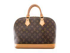 Authentic Louis Vuitton signature monogram canvas Alma Handbag M51130
