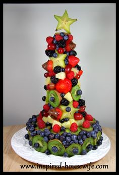 """""""Inspired-Housewife: DIY Edible Fruit Holiday Birthday Cake Arrangement - Party - Gluten Free - Dairy Free"""