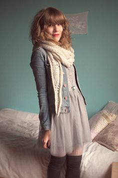 Gray-dixi-dress-blue-h-m-jacket-gray-h-m-socks-beige-pimkie-leggings-whi