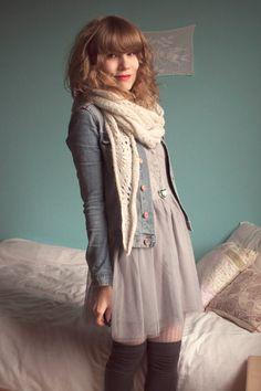 Gray-dixi-dress-blue-h-m-jacket-gray-h-m-socks-beige-pimkie-leggings-whi