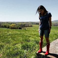 Day on the farm Spring Weather, Spring Summer 2016, Hunter Boots, Hipster, Outdoors, Plaid, Tops, Fashion, Outdoor