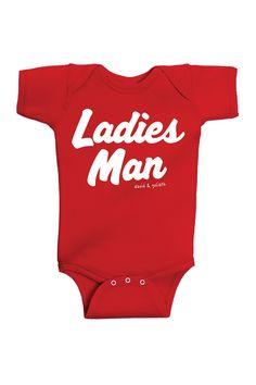 Ladies Man Bodysuit (Baby Boys) by David & Goliath on @HauteLook