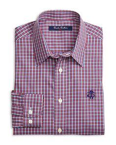 45.00$  Buy now - http://visjf.justgood.pw/vig/item.php?t=74zldls46104 - Brooks Brothers Boys' Non Iron Mini Check Shirt - Big Kid 45.00$