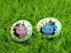 BABY DRAGON EGGS, pink and blue,