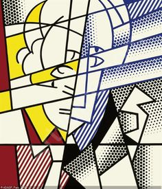 Lichtenstein self portrait, you have to glance back to see the future?