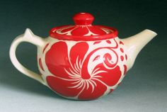 Red Hibiscus... 2 Cup Teapot