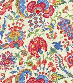 "Linen, 54"" Upholstery Fabric-Williamsburg Grand Palampore Jewel at Joann.com sale $24, 3/20/14"