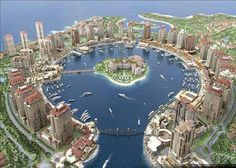 Doha, Qatar. This is the Pearl, where we lived for a while