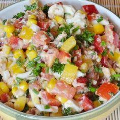 Feta Salat, Cobb Salad, Food Inspiration, Potato Salad, Low Carb, Vegan, Vegetables, Ethnic Recipes, Health