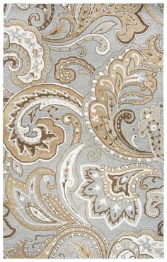 Rizzy Home Suffolk Collection Hand-Tufted Area Rug, x Gray/Natural -- Click image for more details. (This is an affiliate link and I receive a commission for the sales) Paisley Rug, Paisley Pattern, Shabby Chic Living Room, Area Rug Sizes, Hand Tufted Rugs, Grey Rugs, Hand Knotted Rugs, Wool Area Rugs, Color Shades