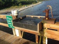 Fish Cleaning Station State Of Florida, Florida Beaches, Fish Cleaning Station, Dirty Kitchen, Captiva Island, Boat Dock, Fort Myers, Lake Life, Under Construction