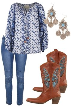 Ocean Breeze Outfit includes boho bird, Boom Boots, and House Of Skye…