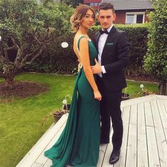 Mermaid Sexy Formal Charming Backless  Elegant Scoop Green Prom Dress, Party Dress, PD0315