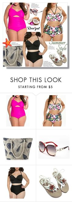 """""""Plus size one piece swimwear - contest"""" by ramiza-rotic ❤ liked on Polyvore"""