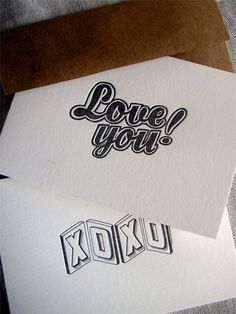 Letterpress Greetings by Leigh Wells and Milkfed Press