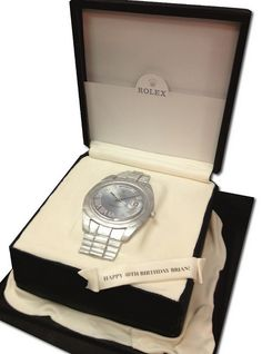 Rolex in box cake | Flickr - Photo Sharing!